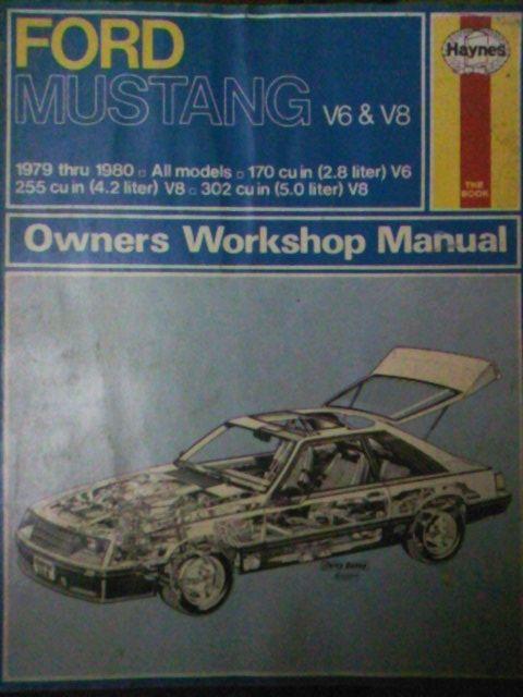Manual auto sport Haynes: Ford Mustang 2,8 V6, 4,2 V8, 5,0 V8, 1979-80