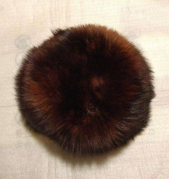 Caciula blana naturala (nurca), de dama