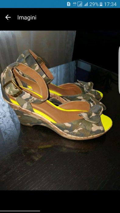sandale niciodata purtate, marimea 40, cu platforma