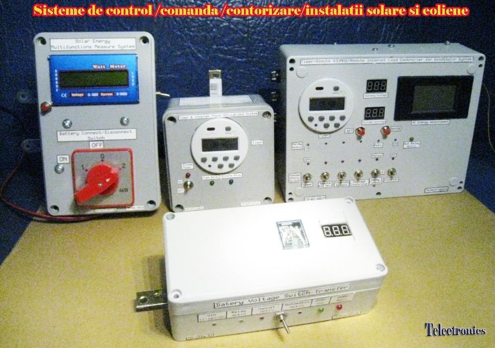 Internet /Timer/Telecomanda Controler Solar si Eolian