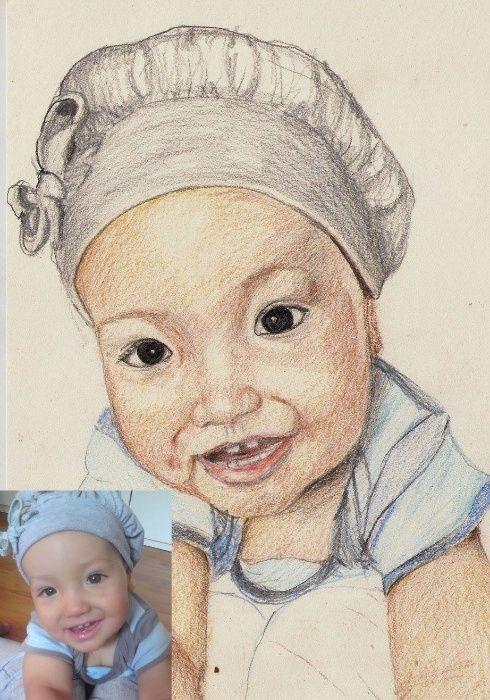 portrete creion