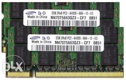 Memorie RAM sodimm 2GB DDR2 800MHz Samsung PC2-6400S CL6 - PROBA !!!