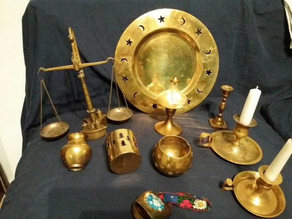 Obiecte din alama/bronz tava sfesnic clopot lampa vas vaza