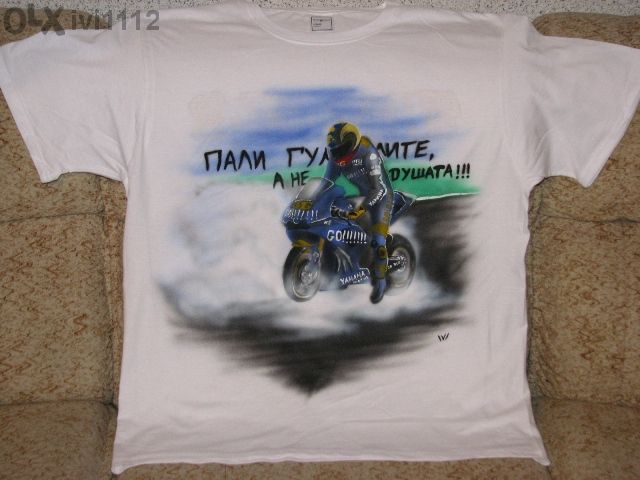 Продавам ръчно рисувани тениски с аерограф