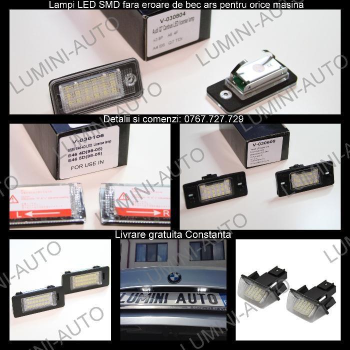 Lampi numar cu LED-uri SMD dedicate Audi A3 ,A4( B6,B7,B8),S4, RS4,A6,