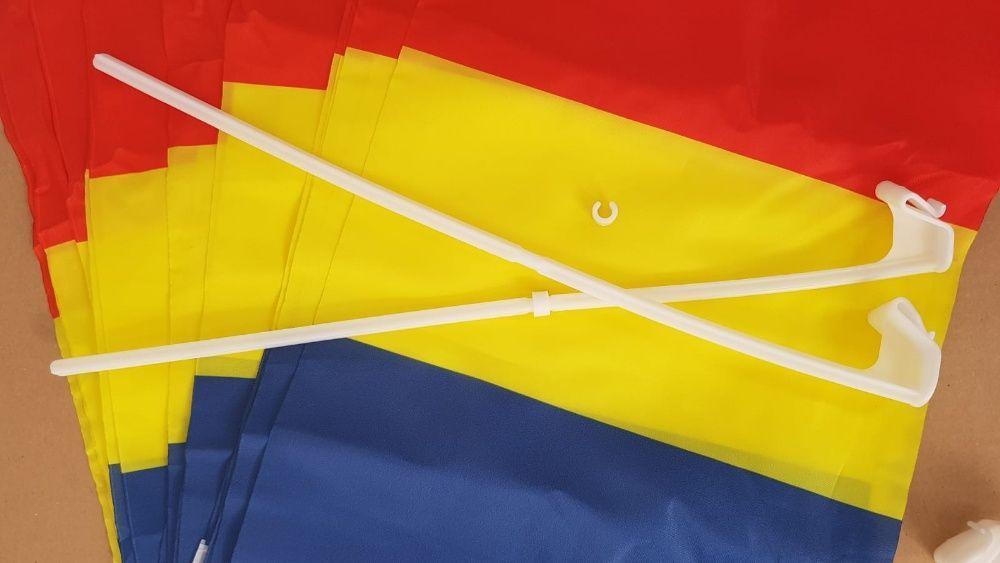 Stegulete tricolore auto 30 cm x 45 cm / flag/ drapel / steag en-gross