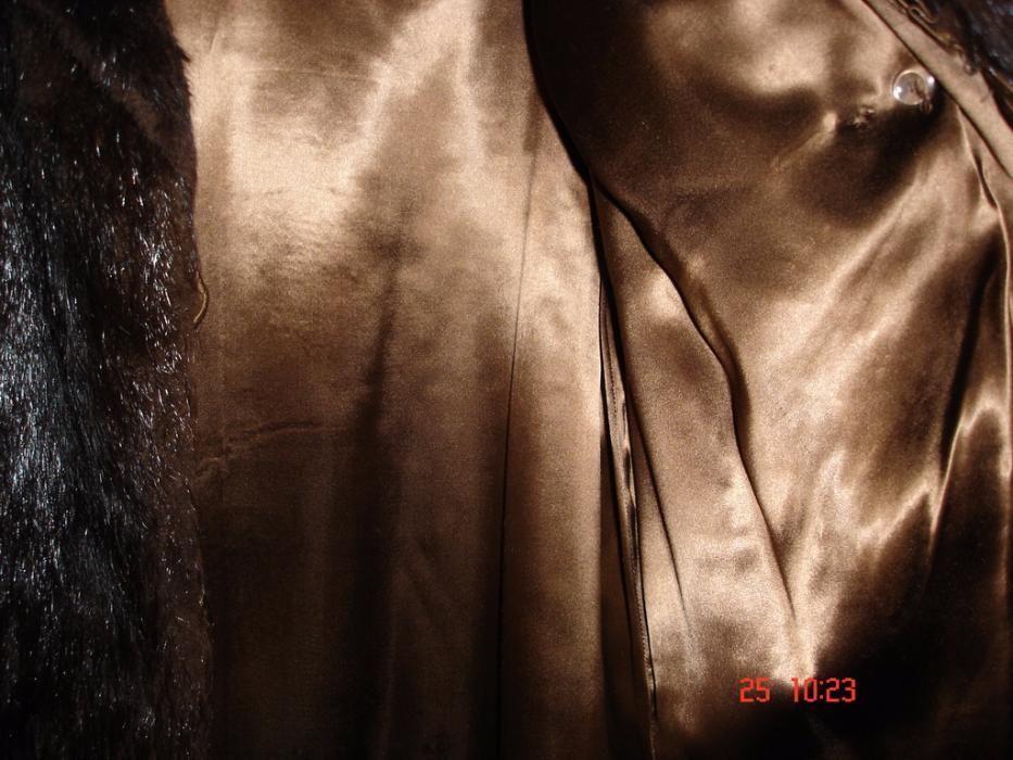 Set Haina dama din blana+caciula - nutrie/culoare neagru/negociabil