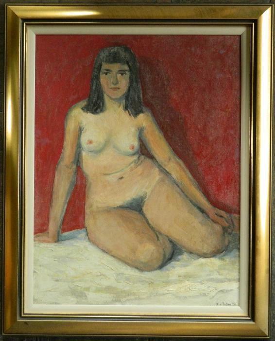 Tablou:''Nud''-Ulei/Panel,dim;54/42 cm,Autor;Gheorghe Botan