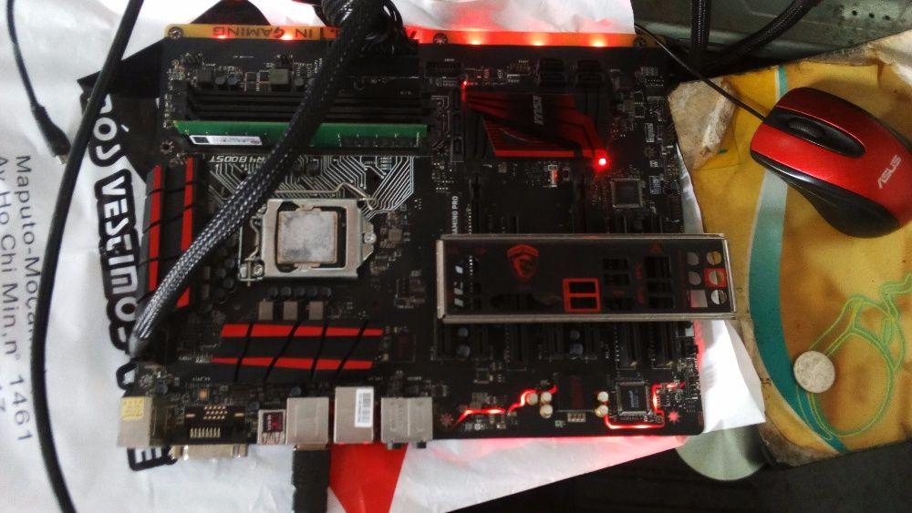 Board gamer msi h170 gaming pro + cpu i5 6600