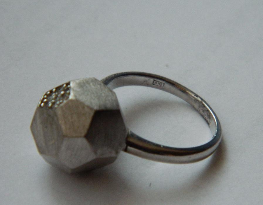 ARG200,inel argint 925,nou/marcat, model masiv, zircon alb