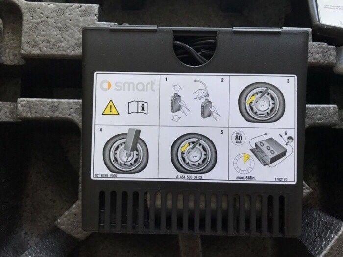 VAnd kit pană smart mercedes in loc roata rezerva lichid solutie+ comp