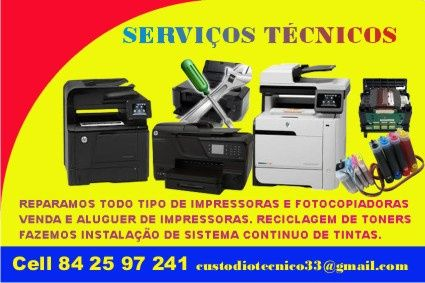 Reparo todo tipo de impressoras e Fotocopiadoras