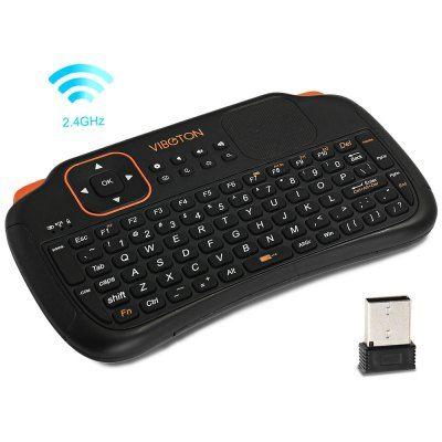 Telecomanda wireless cu tastatura mouse acumulator VIBOTON 2.4Ghz Bucuresti - imagine 2