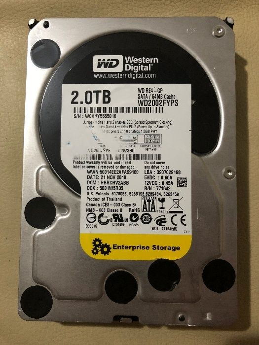 Hard Disk Western Digital 2TB Enterprise Storage