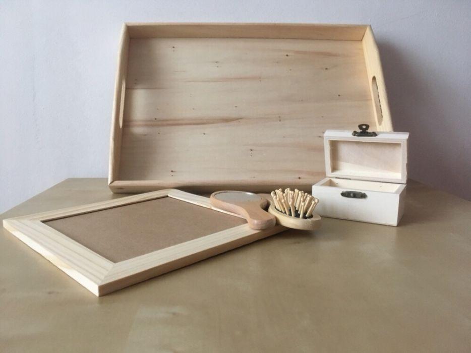 Cutie lemn/ Tava lemn/ Set mot - turta (lemn)