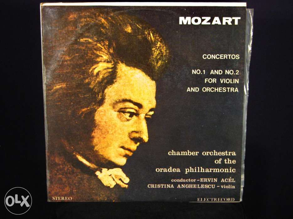 Disc vinil pik-up MOZART Concert No.1 & No.2 violin orch - Electrecord