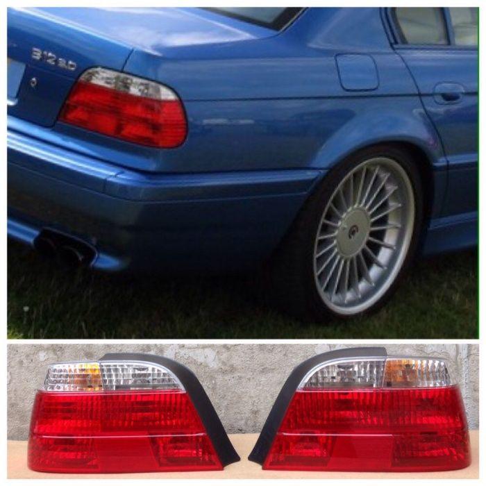 Стопове БМВ Е38 оригинални BMW ляв Алпина десен 740 Alpina 730д бял В8