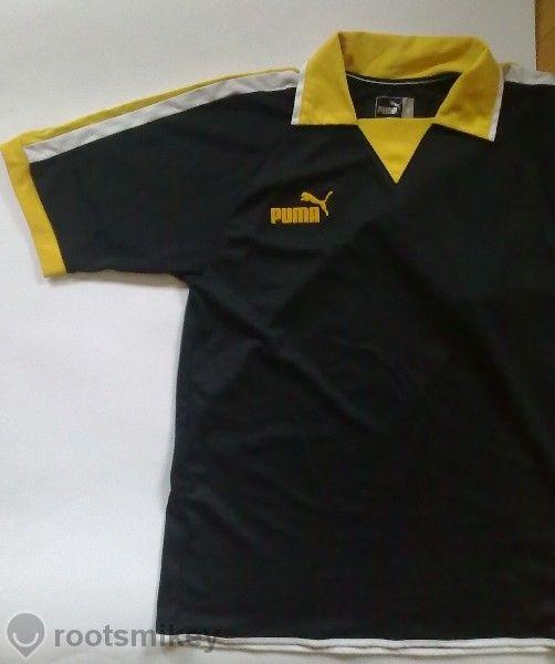 тениска Puma футболна черно и жълто football