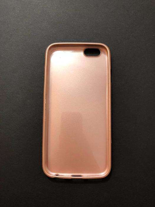 husa roz metalic dedicata apple Iphone 6 6s carcasa cover carcasa
