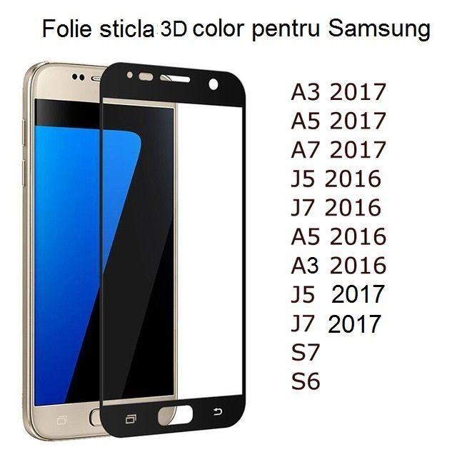 Folie Sticla 3D Samsung A3 2016 A3 2017 A5 2017 J5 2016 J5 2017