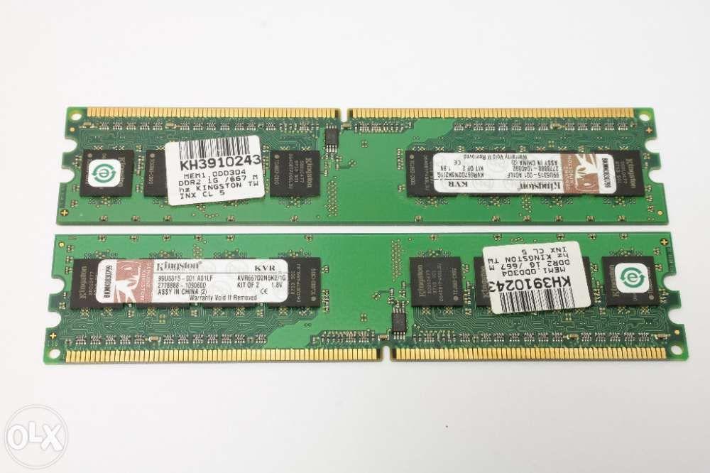 Memorie Kingston 2x1GB DDR2 667MHz 99U5315-001.A01LF