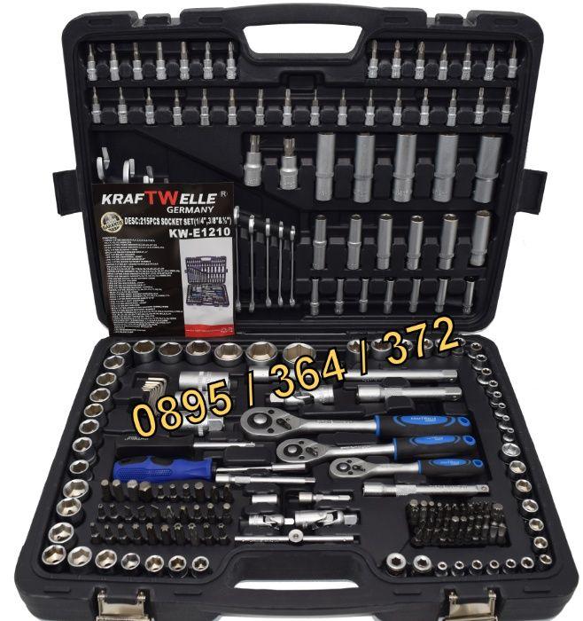 ПРОМО Гедоре 215 части Куфар с инструменти с ключове - KW215