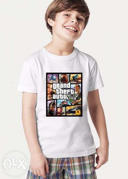 Детски тениски GTA 5 и WORLD OF WARCRAFT! Поръчай с ТВОЯ снимка!