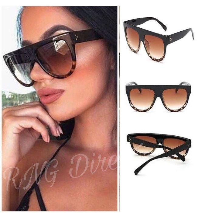 Разпродажба-50% Céline Black Дамски сълчеви очила UV400 защита