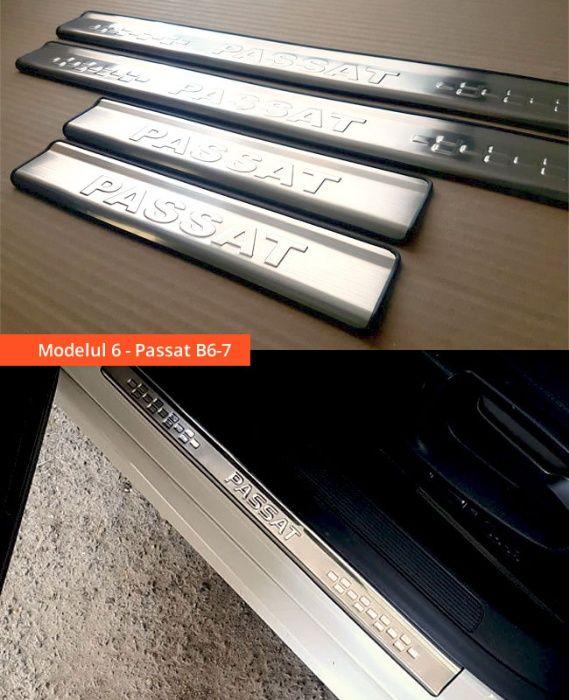 Ornamente inox praguri (9 modele) -VW Golf 4-7, Passat B6 B7 B8, Jetta Bucuresti - imagine 6