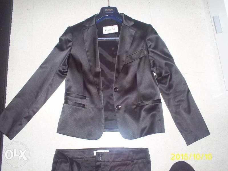 Дамски костюм (панталон и сако) ТОНИ М - сатен