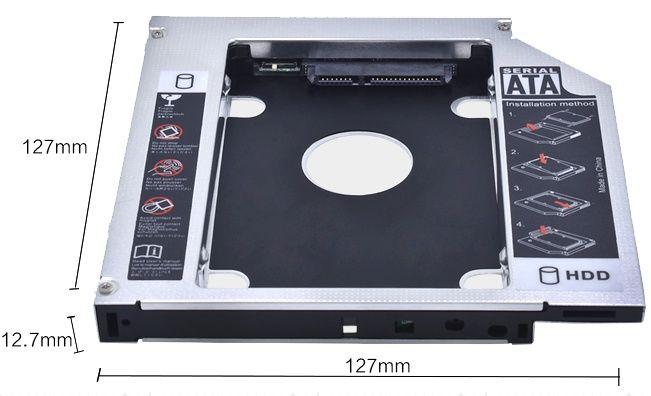 Optibay Caddy SSD/HDD. Адаптер для жесткого диска вместо DVD привода