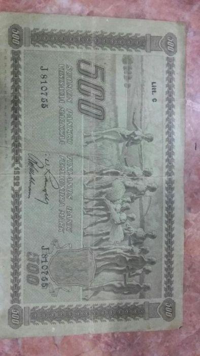 Продам Купюру в 500 финских марок 1922 год