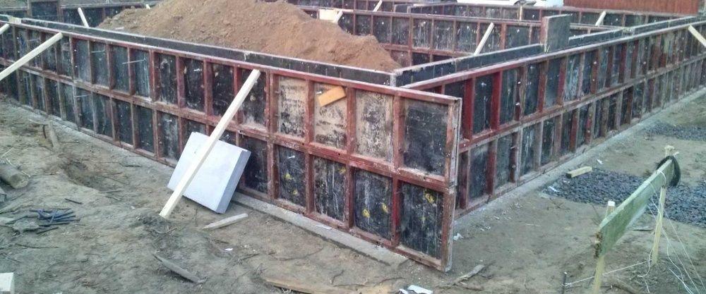 Заливка фундамента опалубка аренда