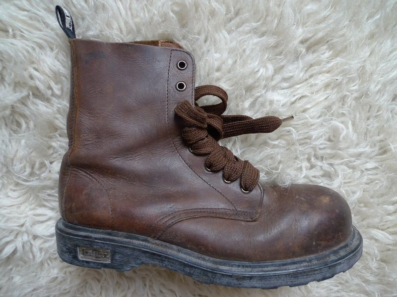 Ghete Boots Cult Bolt Mid piele bot de metal motor, rock ,timp liber
