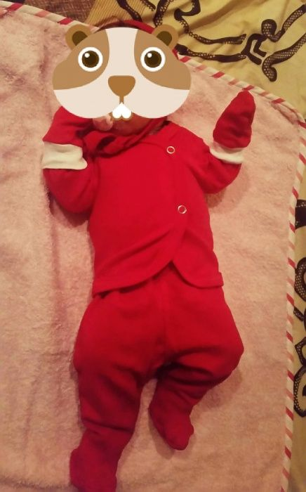 Costum Craciun bebe nou-nascut