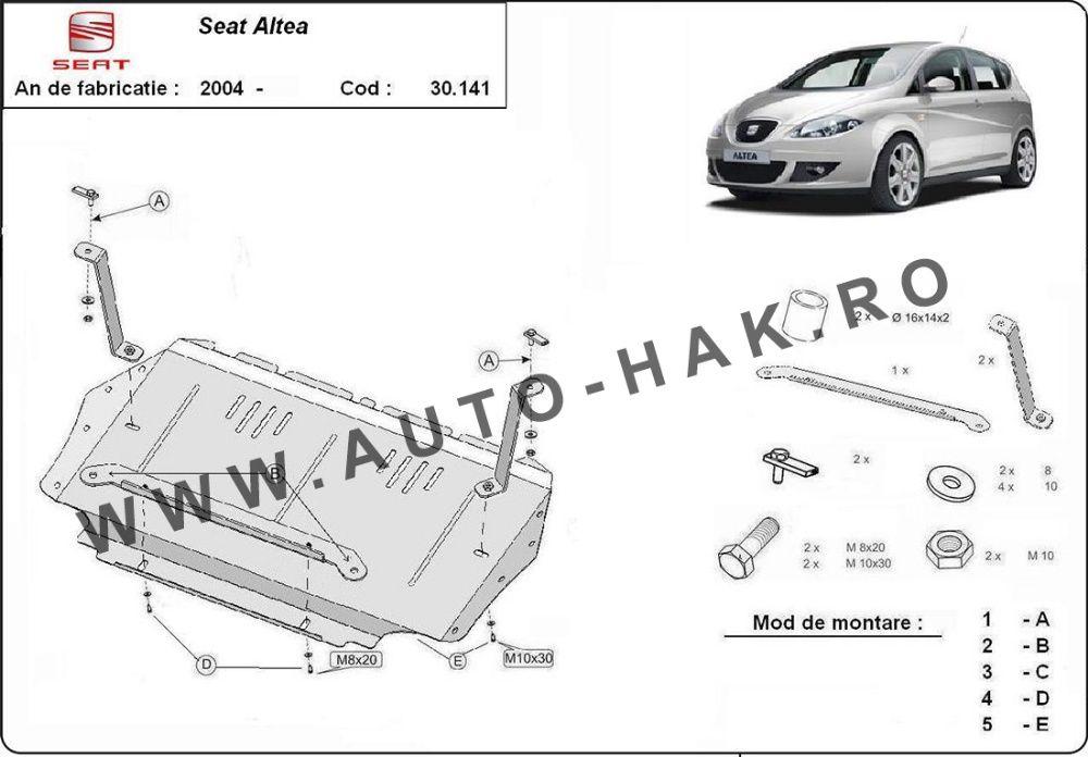 Scut motor metalic Seat Altea 2004-2010- otel 2mm
