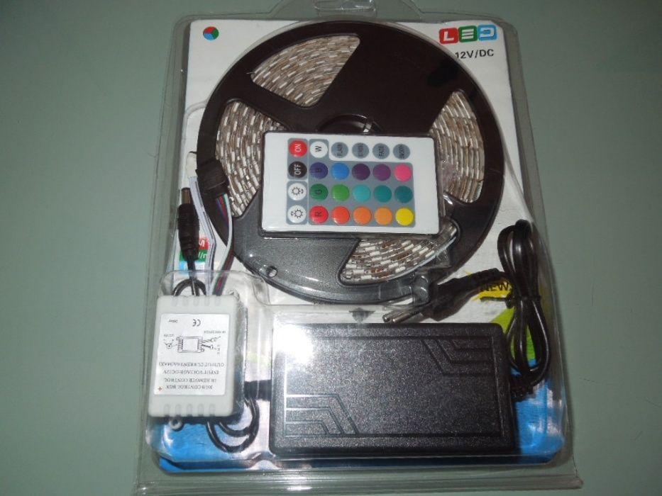 Kit Complect RGB5050 60LED/M Multicolor 5Metri Cu Protectie La Apa!