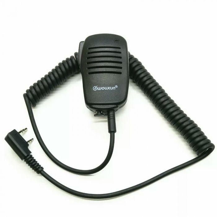 Микрофон тангента для рации Baofeng, Kenwood и других моделей.