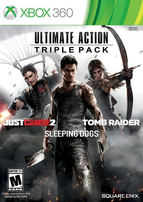 Joc Xbox360 Ultimate Action:Tomb Raider,Sleeping Dogs,Just Cause-3 DVD