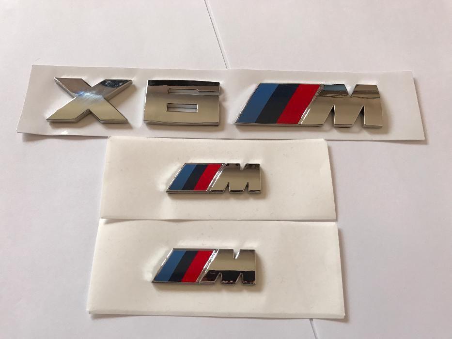 Set Emblema BMW X6M aripi/spate abs originale crom