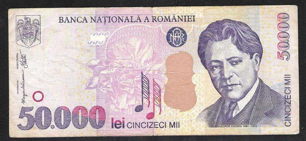 Bancnota 50.000 lei 2000