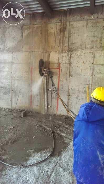 Алмазное бурение и резка бетона,монолита и канатное резка бетона