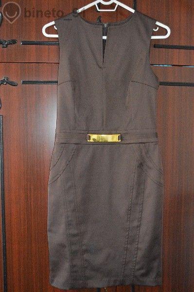 Стилна кафява рокля