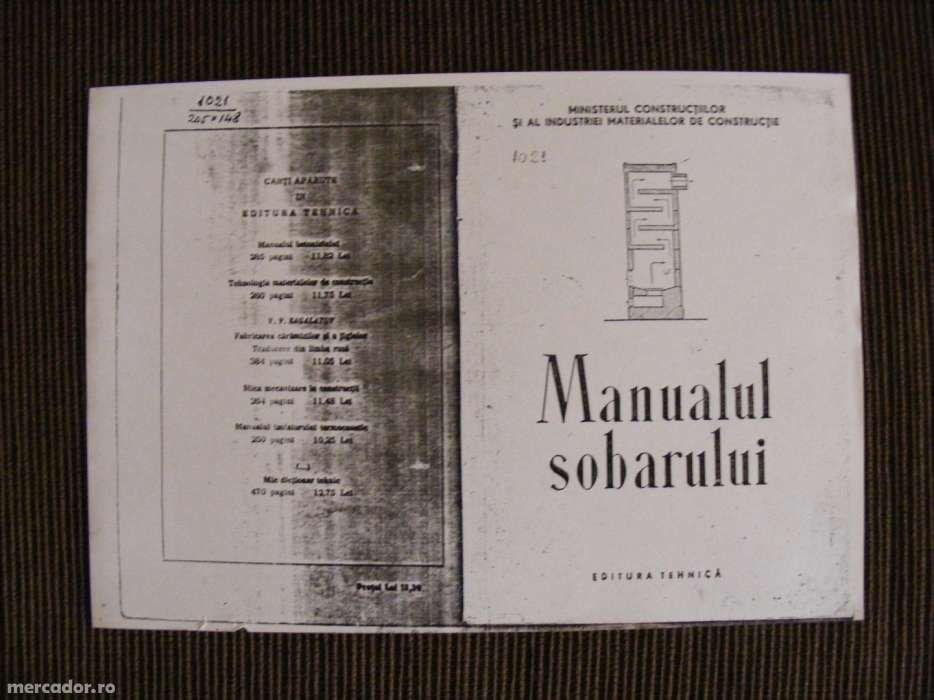 Manualul sobarului editia 1952