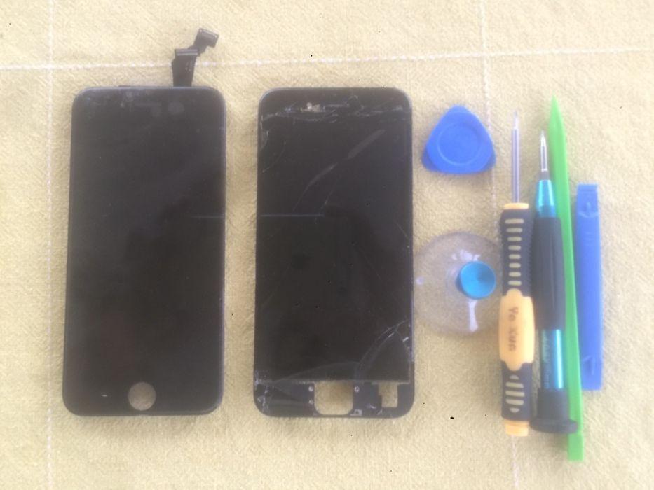 Ecrã / Visor / Display + Touchscreen iPhone 4S/5c/5/5S/6/6S/7/8/Plus