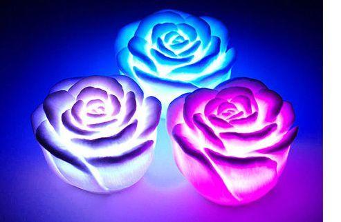 Мини-светильник хамелеон Роза