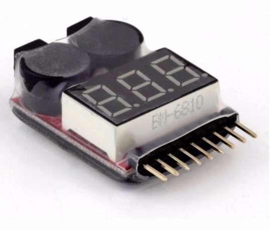 Buzzer Voltmetru Tester Acumulatori 1-8S Lipo/Li-ion//Li-Fe cu alarma