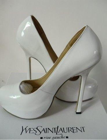 Туфли женские новые. Вариант для невесты. Реплика Ив Сен Лоран