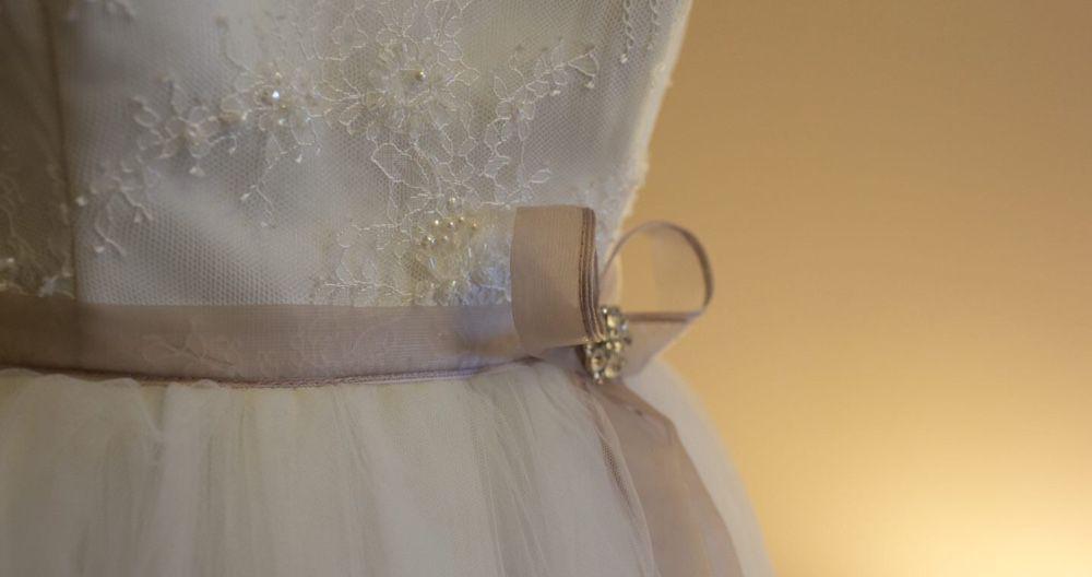 Rochie de mireasa din tull și dantela ivoire, Innocenti Sposa M/38