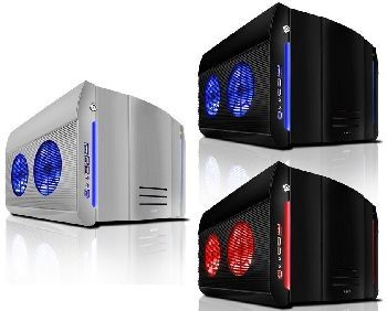 Gabinete Micro ATX ROGUE com LEDs cor Azul
